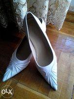 Туфли свадебные, кожанные р.39
