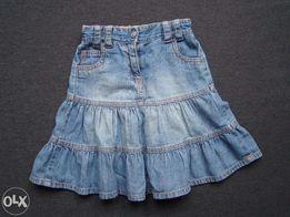 Next spódniczka jeansowa 110 falbany