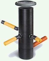 Пластиковые колодцы канализационные дренажные 315, 400. Подбор труб