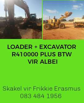 COMBO: EXCAVATOR AND LOADER