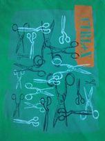 KREATYWNA KOSZULKA Ctrl+X Ctrl+V nożyczki T-SHIRT zielony L