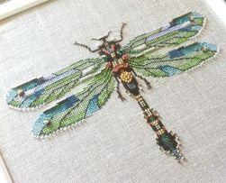 схема Nora Corbett изумрудная стрекоза Emerald Dragonfly Нора Корбетт