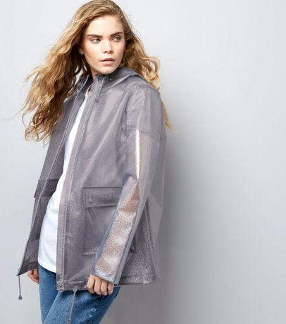 Дождевик худи анорак прозрачный с блестками. one size Одесса - изображение 3