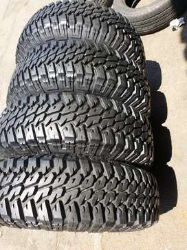 Fairly used set of 235/85/16 Goodyear M/T  tyres for sell
