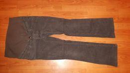 Spodnie ciążowe sztruksowe szare