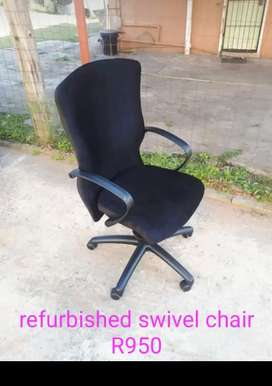 Refurbished black swivel chair