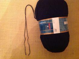 Пряжа Kristal kartopu чёрная для ручного вязания
