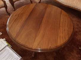 Antique Solid Mahogany Middle Round Table 92 mm