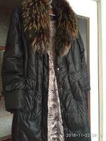 Зимнее пальто ,наполнитель пух ,опушка натуральная.