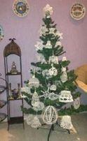Новогодние ажурные елочные украшения