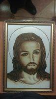 """Икона-картина бисером""""Иисус"""""""