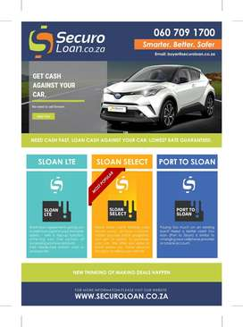 Pawn your car with us, for instant Cash $$$ in your pocket.