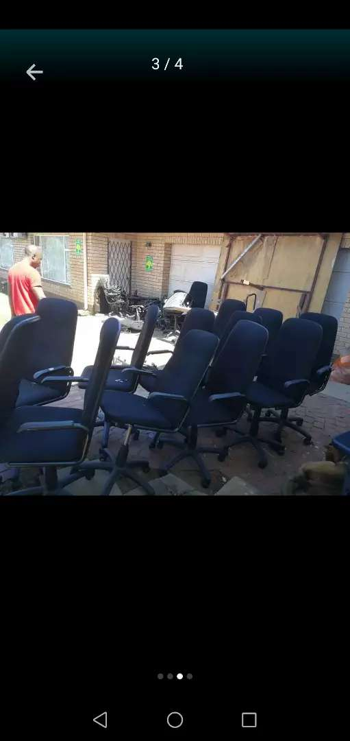 Black office chairs available 0