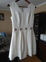 Sukienka ecru/jasny beż 36-38