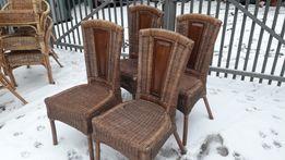 krzesła rattanowe b.ładne