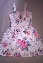Prześliczna sukienka na ramiaczkach kwiaty wesele new look