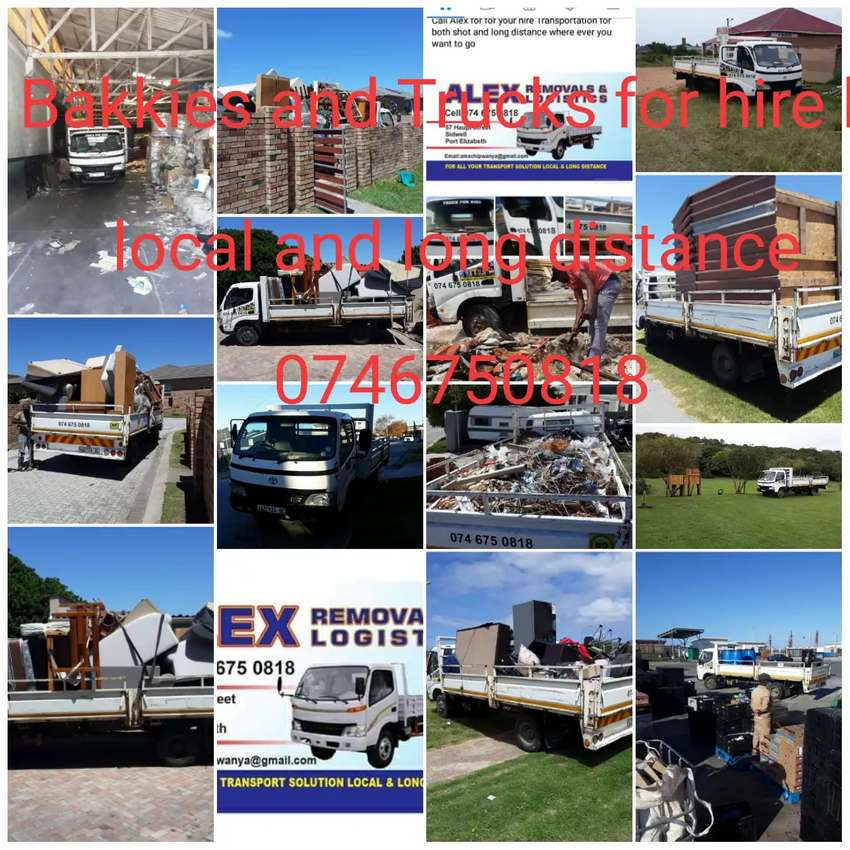 Bakkies and Trucks for hire local and Long distance 0