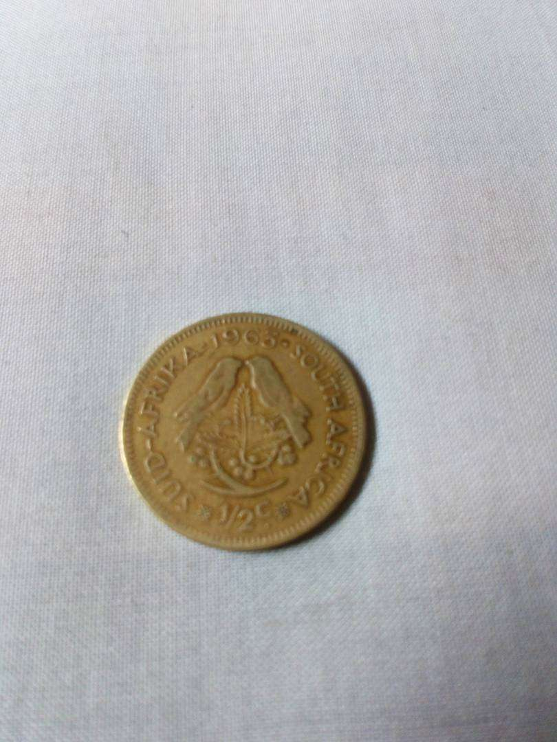 South African half cent 1963 Gold Coin 0