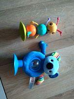 Zabawka na przyssawce do krzeselka , grzechotka Smiki, fisher price