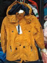 Демисезонная мальчиковая куртка- парка.