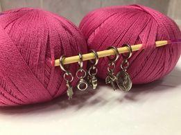 Маркеры брелки для вязания пряжа спицы