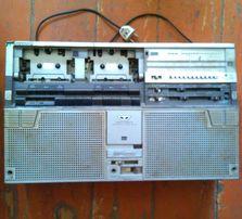 двухкассетная магнитола SHARP GF-555X(длинный FM),б/у