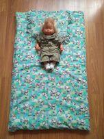 Зимний конверт на выписку одеяло подушка трансформер мешок