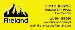 usługi, szkolenia bhp, ppoz, fireland