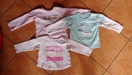 3 bluzki 80cm PEPCO