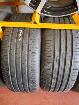 2x Good Used 205/55/R16 Continental Conti Sport Tyres