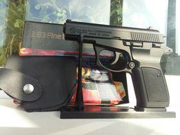 Сувенирная зажигалка пистолет браунинг в кобуре