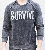 Szara bluza Pull&Bear M 38 wkładana męska hoodie napis streetwear