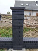 Słupki prefabrykowane murki imitacja klinkieru ogrodzenie betonowe