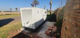 2 x 100 KVA Cummins gensets in silent canopies with ATS and AMF panel