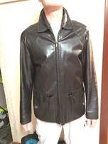 Кожаная мужская куртка, размер М