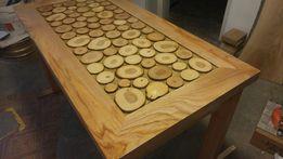 Stół drewniany z drzewna Jesionowego ława jasion twarde drzewo jesion
