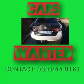 Cars wanted urgently