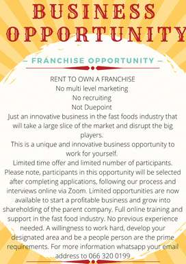RENT TO OWN FRANCHISE !