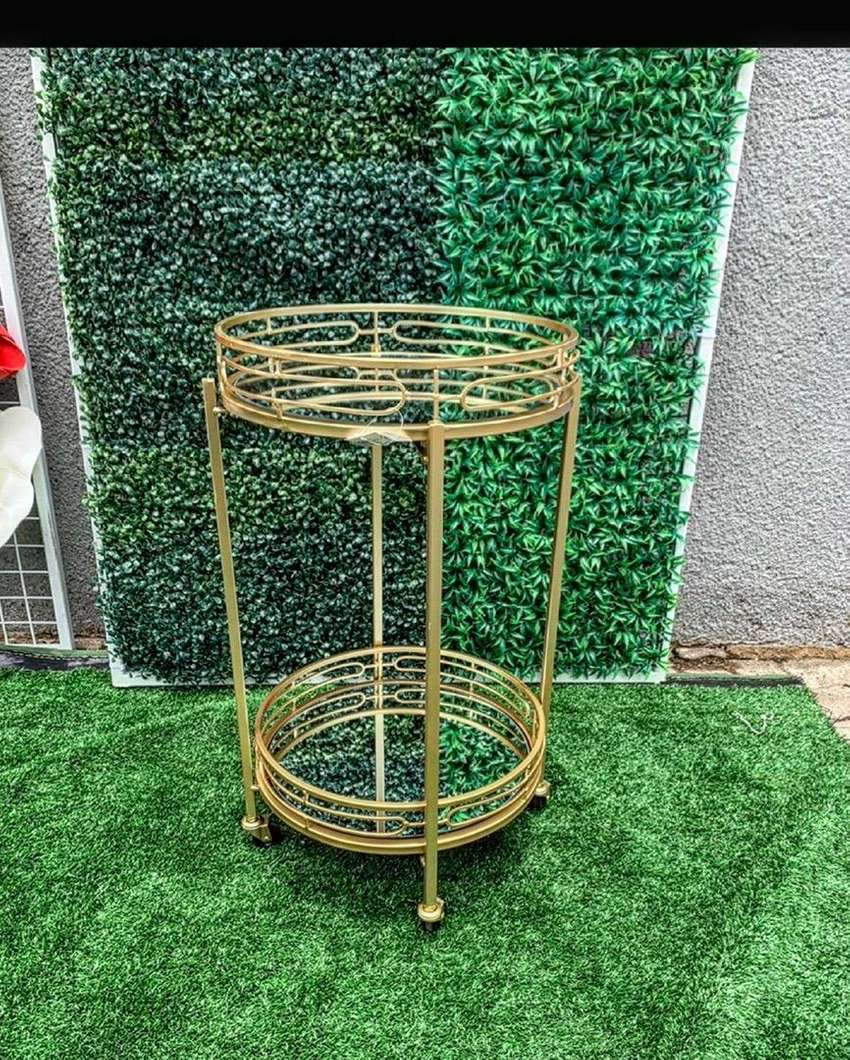 Gold Mirrored Two tier trolley