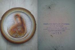 Sztukateria gipsowa talerz Matka boska Fatimska