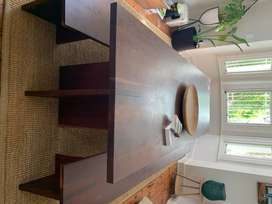Solid Kiaat 8 to 10 seater Dining Table and Benches