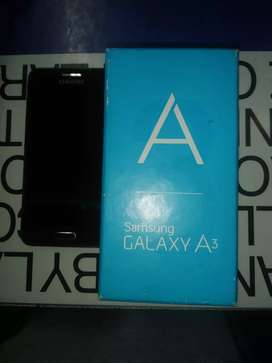 Samsung galaxy a3. In very good condition. With box headphones charger