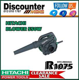 Hitachi Blower 550W ONLY R1075 at Discounter Midas!