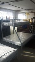 Łóżko metalowe piętrowe 150x200 potrójne serii 400