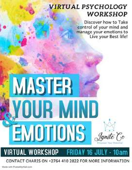 Join us on our virtual Master your Mind and Emotions Workshop