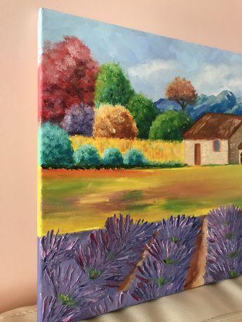 Картина пейзаж прованс маслом Львов - изображение 5