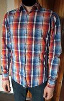 Koszula Męska Pomarańczowo-NIebieska Haupt rozmiar S 37 38