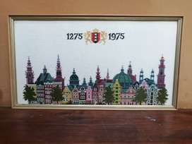 Lovely old commemorative embroidery.