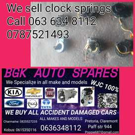 We sell clock springs for most cars give us a call
