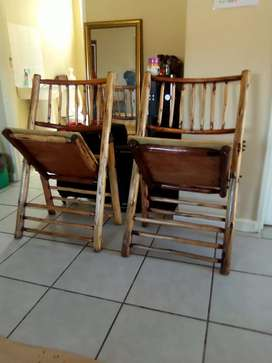 Outdoor port Jackson wood chairs